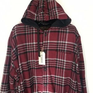 Outdoor Life Cotton Flannel Hooded Shirt Jacket
